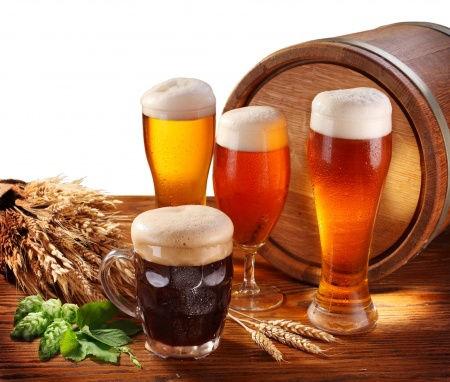 pivo a suroviny na výrobu