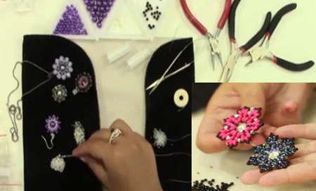Šité korálkové šperky – technika, návody, postupy