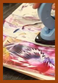 enkaustika malování žehličkou