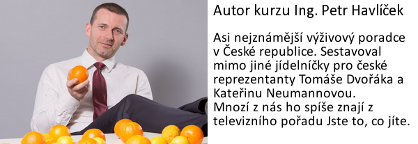 Petr Havlíček - výživový poradce