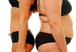 hubená vs tlustá žena