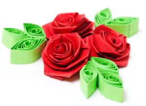 quilling - růže