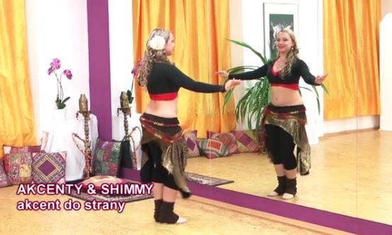 orientální tanečnice tančí břišní tance - akcent a shimmy