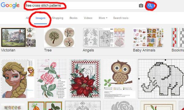google obrázky křížkové vyšívací předlohy