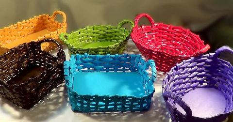 Pletení z papírových ruliček pro začátečníky  43c29b2db20
