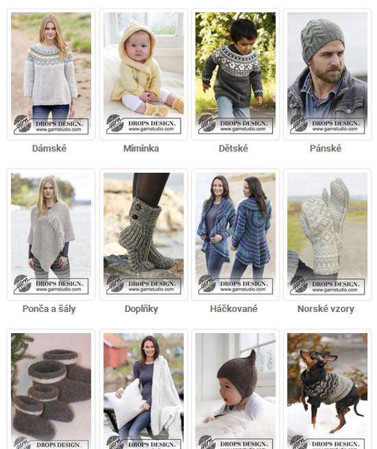 návody na pletení dámské, miminka, pánské, ponožky a jiné