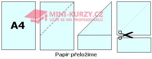 návod na výrobu čtverce z formátu papíru A4