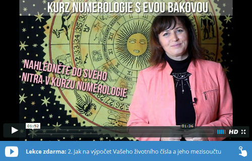 Eva Baková ve videu vysvětluje, jak vypočítat životní číslo a jeho mezisoučet