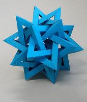 modrá hvězdice - geometrické a abstraktní origami