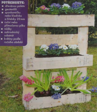 truhlík na květiny z palety