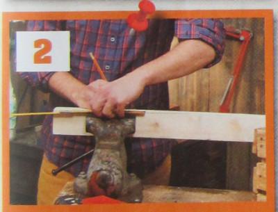 Pelíšek z dřevěné bedýnky - řezání