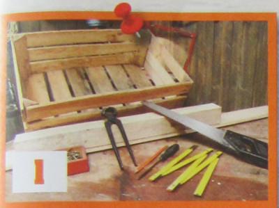 nářadí a pomůcky pro výrobu dřevěného pělíšku