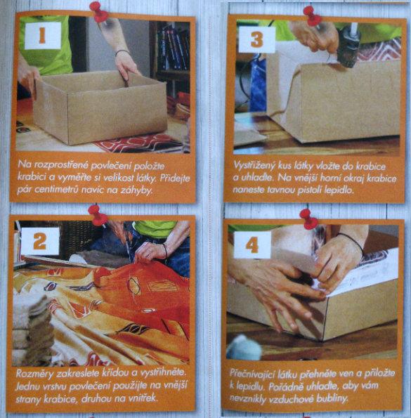 čtyři kroky pro výrobu vlastní papírové krabice
