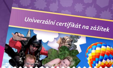 daruj zážitek - daruj univerzální certifikát pro výběr zážitkového kurzu