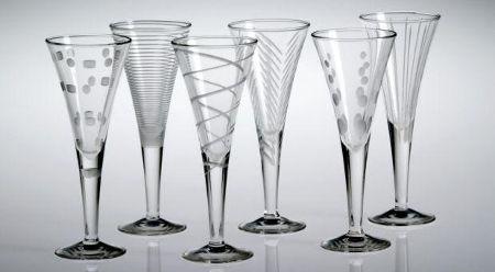 pohárky s leptaným motivem