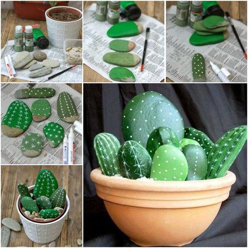 malujeme kaktus na kameny krok za krokem
