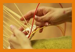 návod pletení košíku z pedigu