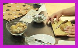 návod jak vytvořit razítka z brambor