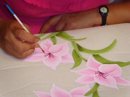 předloha květinového vzoru při malování na hedvábí