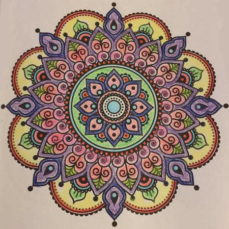 mandala vzor, inspirace