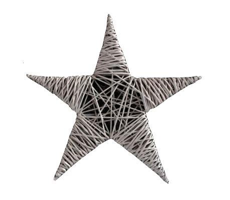 Fotografie hvězda z papírových ruliček