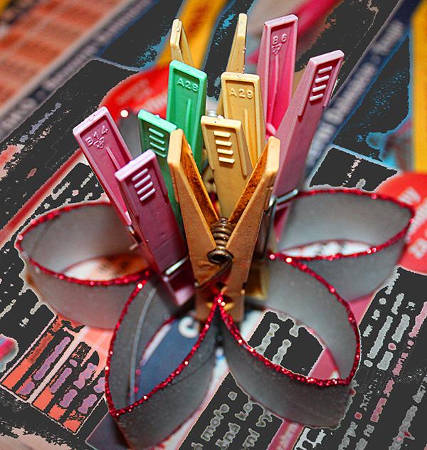 Fotografie vánoční hvězdy s kolíčky