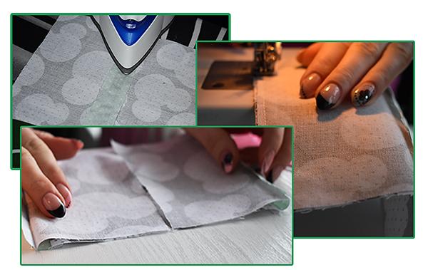 Fotografie postup šití zásobníku na kapesníky