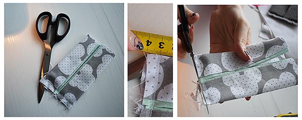 Fotografie návodu na šití zásobníku na kapesníky