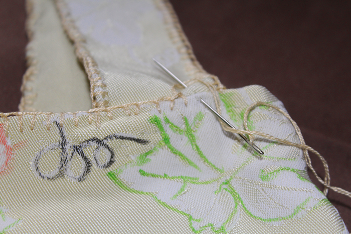 fotografie obšitých uch plátěné tašky