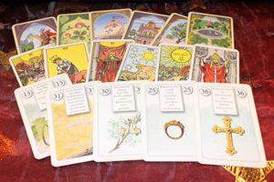 Fotografie tarotových karet