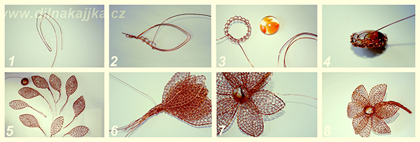 Fotografie drátované kytky