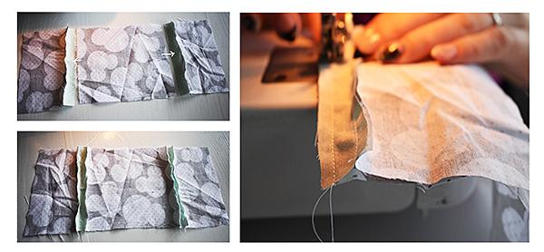 Fotografie šití zásobníku na kapsníky