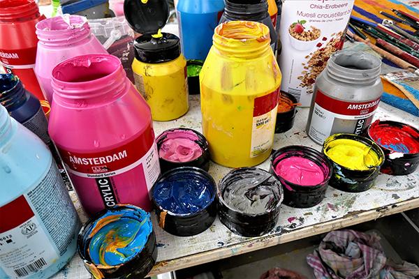 Fotografie akrylových barev