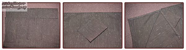 Fotografie návodu jak se šije nákupní plátěná taška