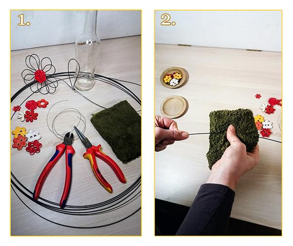 Foto návod jak vytvořit květinu z drátu