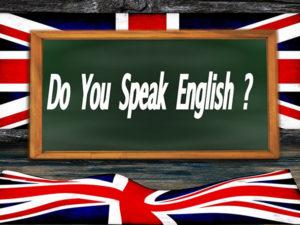 Fotografie anglického nápisu na tabuli