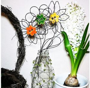 Fotografie květina z drátu