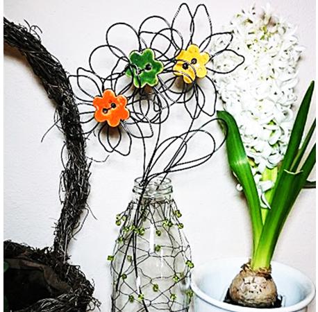 Návod na drátovanou květinu od Radky Novákové