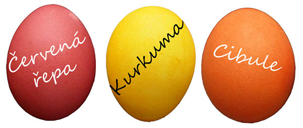 fotografie barvených vajec