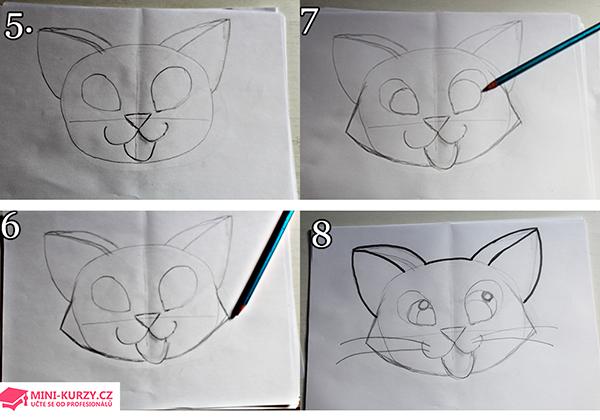 Jak postupovat při kreslení kočky