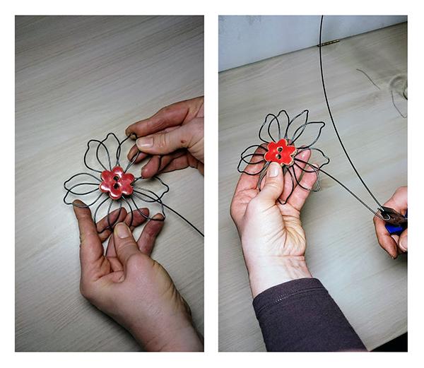 Fotografie jak vyrobit květinu z drátu