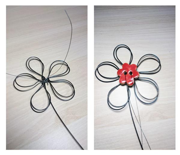 Jak vytvořit květinu z drátu