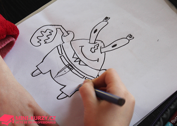 Kreslíme s děti pana Krabse