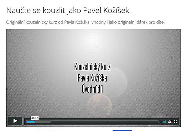 Fotografie nápisu Kouzelnický kurz Pavla Kožíška