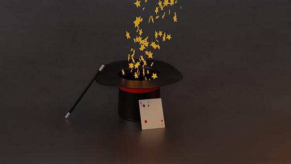 Fotografie kouzelnického klobouku a kouzel