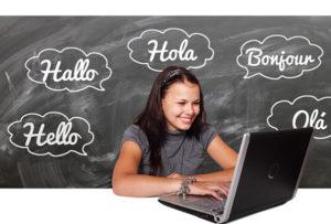 Fotografie slečny která se učí angličtinu