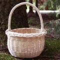 Fotografie pleteného košíku na houby z pedigu