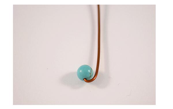 Fotografie Spirálkovité náušnice s tyrkysem - návod
