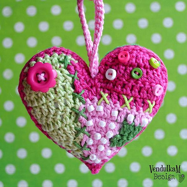 Fotgrafie patchwork heart Vendulka