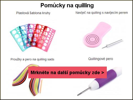 šablona, navíječ na quilling, proužky a quillingové pero